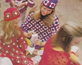 Patons - Ponchos and Shawls Pattern -  Vintage 1970s - Crochet and Knitted Pattern Book No 967