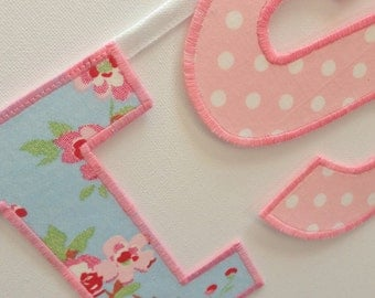 Personalised Bunting Name Banner Cath Kidston Rosali Floral & Gingham
