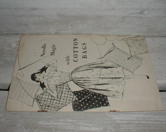 1950s Needle Magic With Cotton Bags Pamphlet  *Simplicity Patterns* Plus More *Sewing Booklet*