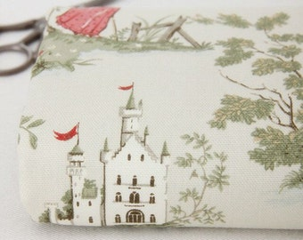 Cotton Canvas Fabric, Fairy Tale Style, Castle Half Yard (QT494)