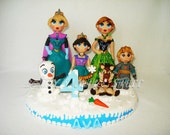 2# FROZEN CORONATION Inspired theme Cake Topper with name & number