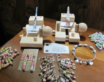 """V3 SLIDER Multi-Pin Paper Bead Roller Rolling Machine 1/16"""" & 1/8"""" Pins - Roll Paper Beads With Just ONE Finger!"""