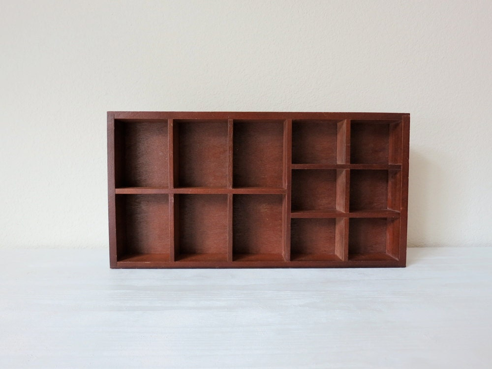 small wooden curio shelf wall hanging knick knack by gullylux. Black Bedroom Furniture Sets. Home Design Ideas