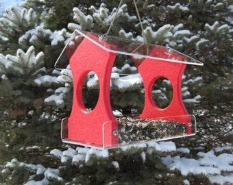 Recycled Poly Lumber Hanging Birdfeeder, Red, 3030R Free Shipping