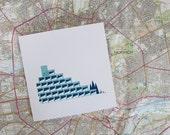 Micro Norwich UEA Ziggurat Greetings Card