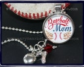 Baseball Mom Pendant with charms