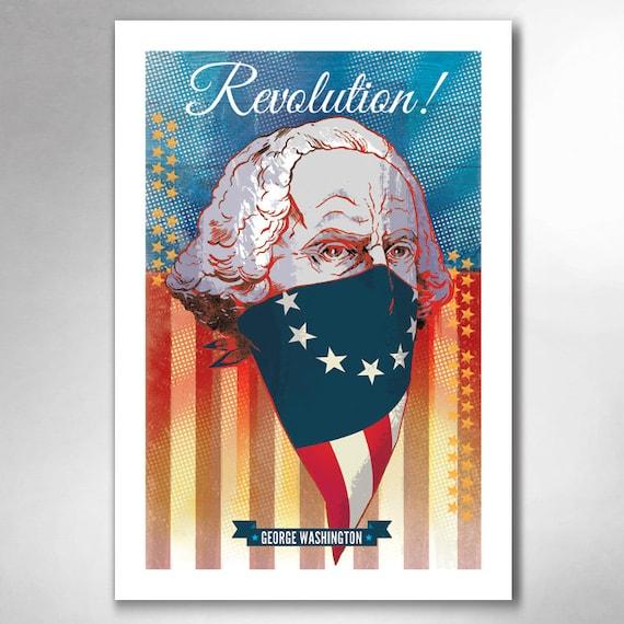 GEORGE WASHINGTON Revolution 13x19 Art Print by Rob Ozborne