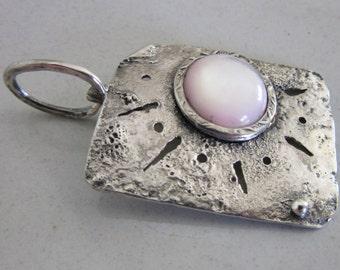 Rose Shell Silver Pendant - Handmade jewelry - Contemporary jewelery