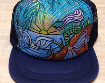 Mermaid Trucker Hat by Roupoli Roupolimama