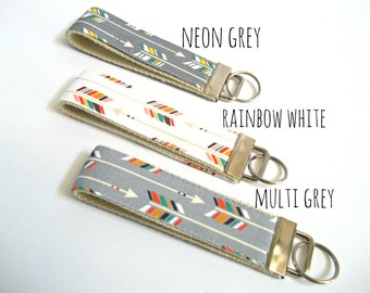 Arrow Key Fob - Teacher Gift - Arrow Fabric - Fabric Wristilet
