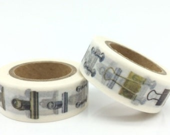 DIY Removable Adhesive Masking Deco Washi Tape - Paper Clip (1.5 cm Width)