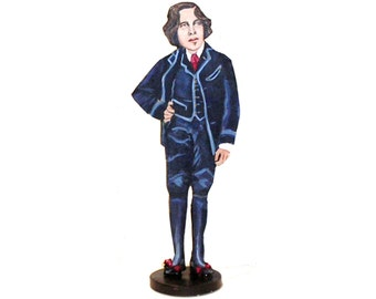 Oscar Wilde Hand Painted 2D Art Figurine