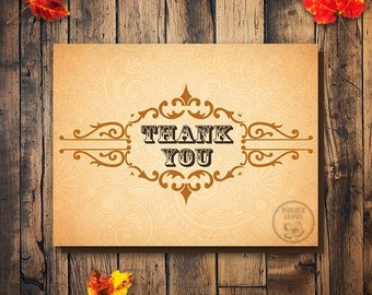 Fall Wedding Thank you Card, Elegant Printable Thank You Card, Welcome Bag Tag, Fall Wedding Welcome Bag, Thank You Card, Wedding Favor Tag