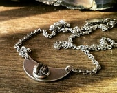 Meteorite Crescent Moon Necklace - The Mimas