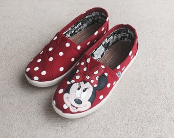 Custom Hand Painted Shoes - Minnie Mouse
