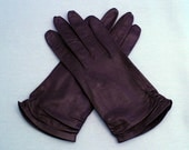 Size 7 Capeskin Leather Gloves Dark Chocolate Brown Vintage 1960s