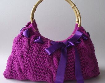 KNITTING BAG PATTERN Cosmetic bag Purse with by LiliaCraftParty