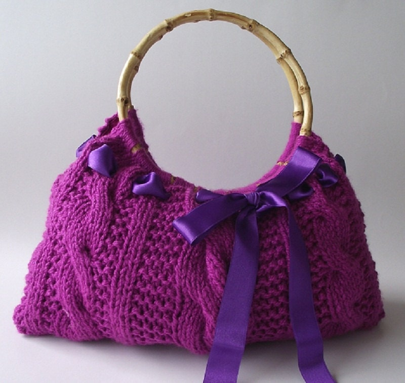 Knit Backpack Pattern : KNITTING PATTERN BAG Handbag with Lucia Bag Bag with
