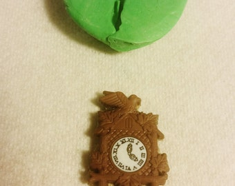 SMALL, Cuckoo CLOCK , SILICONE Mold - Resin, polymer clay, Candle, metal, mold, soap, flexible 3D Hot Glue, mould, free shipping