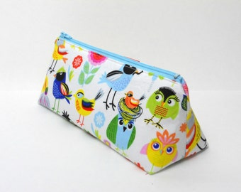 Pencil Case, Birds of a Feather, Crochet Hook Bag, One of a Kind