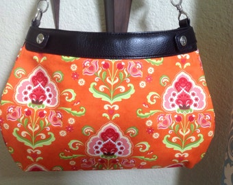Katie Fancy Orange by MODA Suite purse cover thirty one handmade