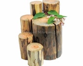 Wood Display Stands, Rustic Log Riser Wood Slab Photo Props, Etsy Sellers, DIY Rustic Wedding Decor, Jewelry Displays, Craft and Trade Shows