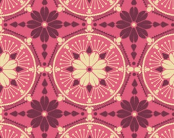 True Colors by Anna Maria Horner for Free Spirit - Medallion In Peony - 1/2 yard cotton quilt fabric 516