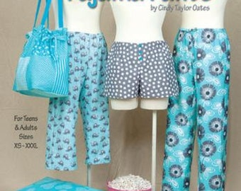 Sew Easy Pajama Pants by Cindy Taylor Oates - Taylor Made Designs booklet