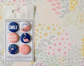 Badges / Adhesive Buttons One fine day Flamingo  for Project Life, Planners and Scrapbooking