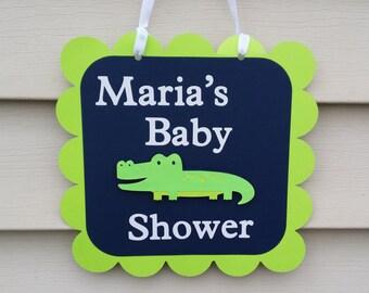 Alligator baby shower sign