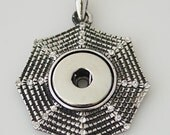 1 Web Pendant - Fits 18MM Candy Snap Charm Jewelry Silver KB0233 CP0013