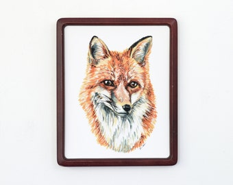 Red Fox 8x10 Art Print - Fox Portrait Giclée Print