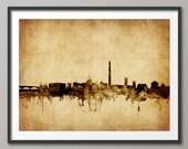Washington DC Skyline, Cityscape Art Print (1785)