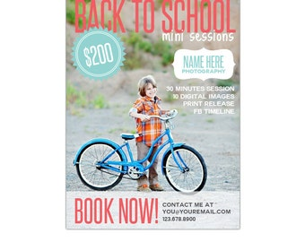 INSTANT DOWNLOAD - Back to School - Photography Marketing board - Psd template - E893