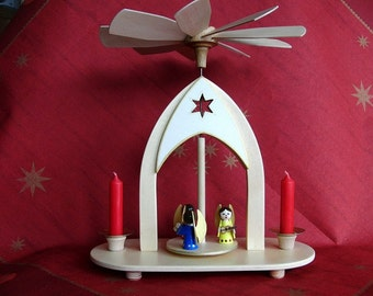 UNIQUE GERMAN CHRISTMAS pyramid, hand made, musician angels, very traditional