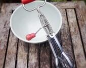 Vintage Egg Beater, Edlund Red Prim Cutie
