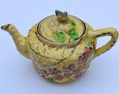 1950s Butterfly Teapot Vintage Teapot Vintage Serving Vintage Kitchen Vintage Housewares Staffordshire Teapot English Teapot Floral Teapot