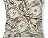 One Dollar Bills, American Money, Throw Pillows, Cash, US Currency