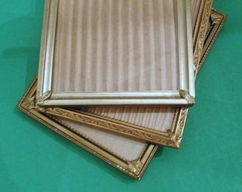 5 x 7 Set of 3 Gold Metal Picture Frames Melody