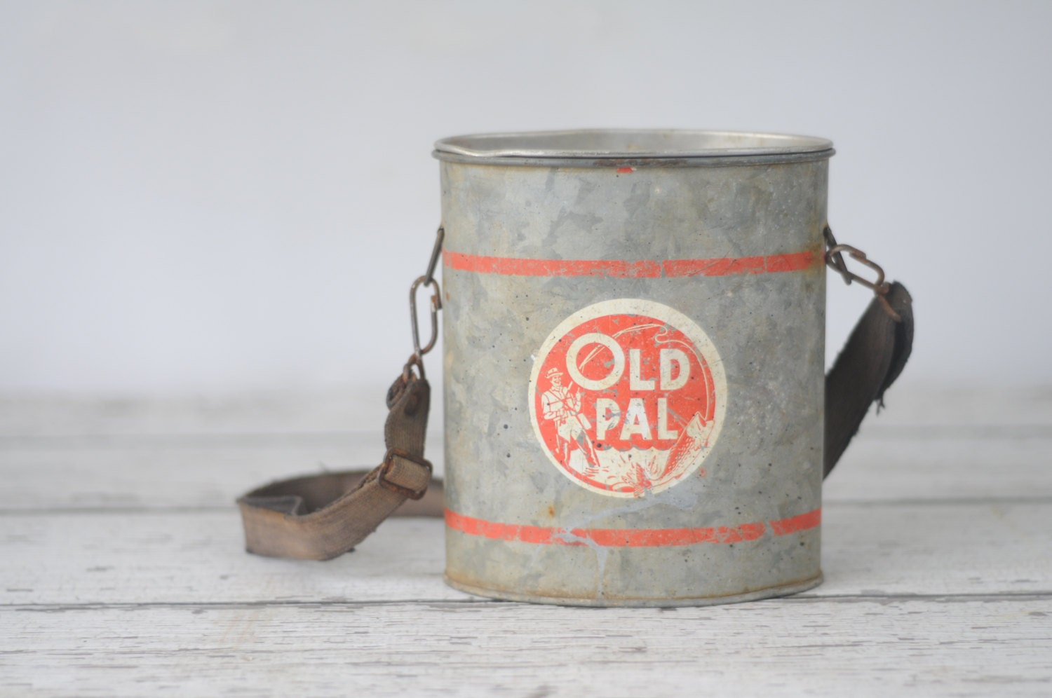 RESERVED Vintage Old Pal Wade-In Bait Bucket by PageScrappers