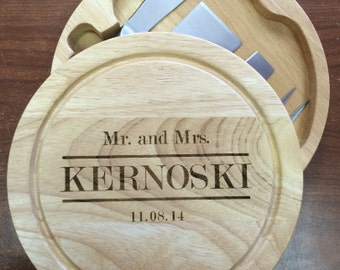 Cheese Board with Stainless Steel Cutlery,Monogrammed Cheeseboard, Personalized Cheeseboard, Housewarming Cheeseboard