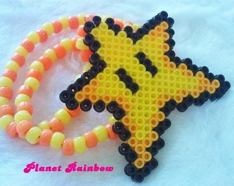 Super Mario Star Kandi Necklace