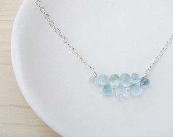 Sky Blue Topaz & Silver Necklace - Sterling Silver