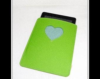 WollfilzHülle e-reader - Apple Green