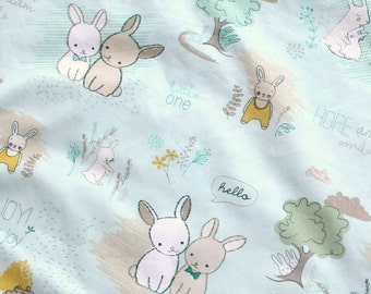 Furry Tails Minty Fabric by the Yard, Art Gallery Fabric