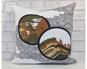 Cushion Cover Vintage 70s Glentanna Fabric Adrianne Morag Ferguson For Heals