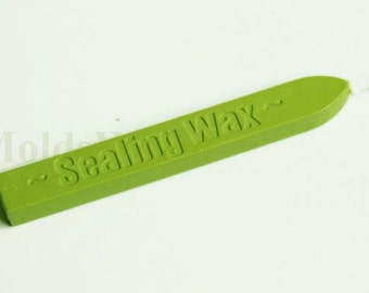 S086 1Pc Lime Wicked Wick Sealing Wax Sticks for Wax Seal Stamp ( Light up direct )