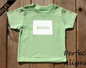 Colorado Home State BORN Unisex Toddler T-shirt - Baby Boys or Girls