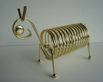 Mid Century Wire Letter Holder Dog Horse