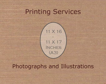 Fine Art Printing 11 X 16 or 11 X 17 (A3) Print Custom Printing Services -Artist's Printing Services Archival Printing -Large Wall Art Decor